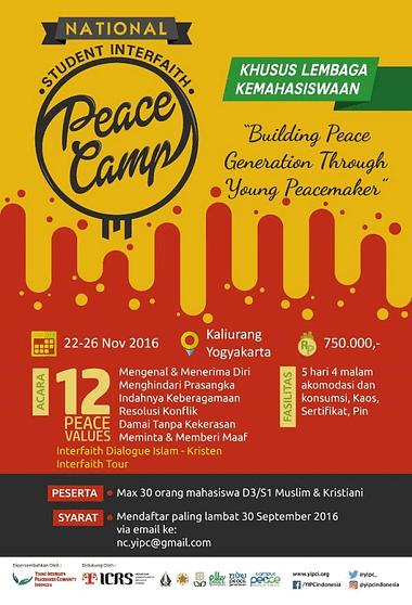 peace camp Lembaga kemahasiswaan